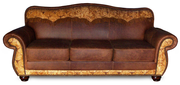 Couch-with-awesome-brown-leather-design-Western-style-for-furnishing-of-living-room