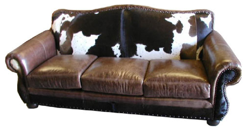 RUSTIC COWHIDE SOFAS RUSTIC SOFAS COUCHES FROM 3170