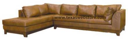 sectional with chaise with cowhide 36 d x 126 l x 100 l