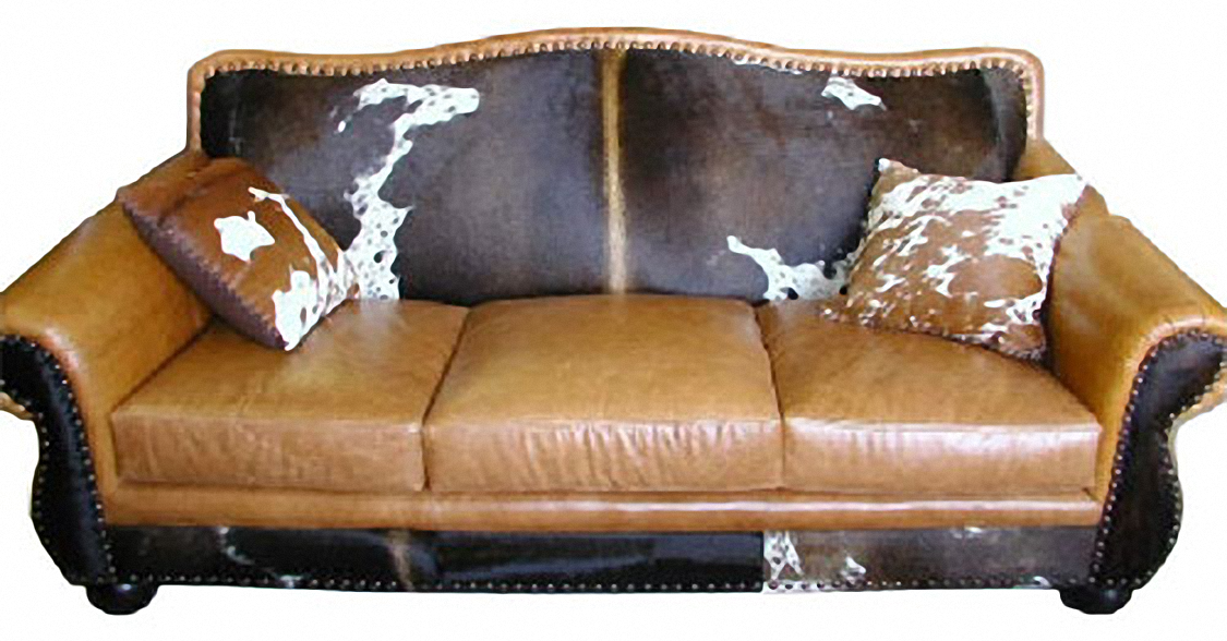 Rustic Cowhide Sofas Rustic Sofas Rustic Couches