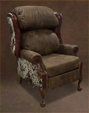Cowhide Recliner