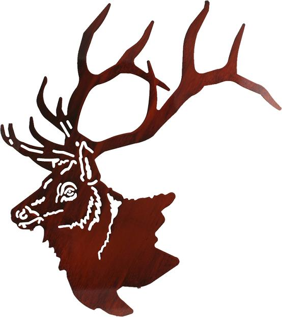 ELK LASER CUT METAL WALL SCULPTURES