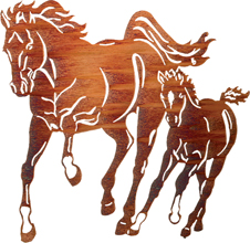 Wall Hangings of horses