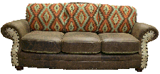 Country Western Cowhide Couch