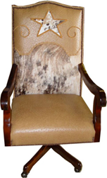 Texas Star Executive Swuvel Desk Chair with Cowhide