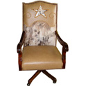 Cowhide Executive Swivel Desk Chair