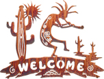 Kokopelli welcome signs