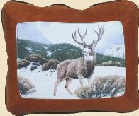 WILDLIFE / WILDERNESS LEATHER DESIGNER COWHIDE PILLOWS