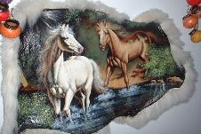 Western Theme Hand Painted Cow Hides