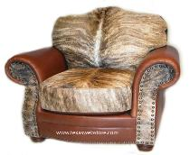 COWHIDE CHAIRS, RECLINERS