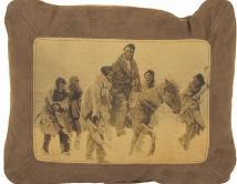 GO TO NATIVE AMERICAN INDIAN COWHIDE HOME FURNISHINGS / PILLOWS