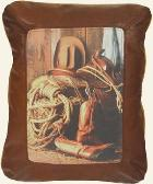 GO TO WESTERN COWBOYS LEATHER DESIGNER PILLOW ACCENTS