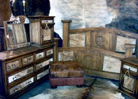 COWHIDE BEDROOM