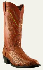 Cayman Alligator Western Style Cowboy Dress boots - Exotics / Caiman