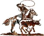 WESTERN THEME LASER CUT METAL WALL ART