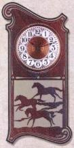 HORSES / EQUSTRIAN WALL CLOCKS