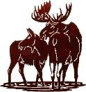WILDLIFE / MOOSE WALNUT SAGE LASER CUT METAL WALL ART