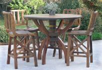 RUSTIC WESTERN OUT DOOR FURNITURE - TEAK WOOD
