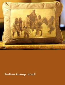 NATIVE AMERICAN INDIAN / WESTERN THEMES LEATHER DESIGNER THROW PILLOWS