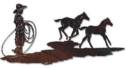 WESTERN THEME WALL DECOR ACCENTS / BUCKING FOR TROUBLE