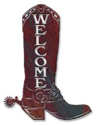 WESTERN WALL HANGINGS - COWBOY THEME BOOT ACCENTS / COUNTRY COWBOY WALL ART / DECOR