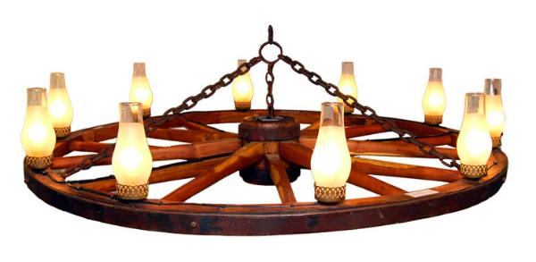 Country Western Wagonwheel Chandeliers