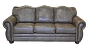 Country Western Genuine Full grain Leather Couch